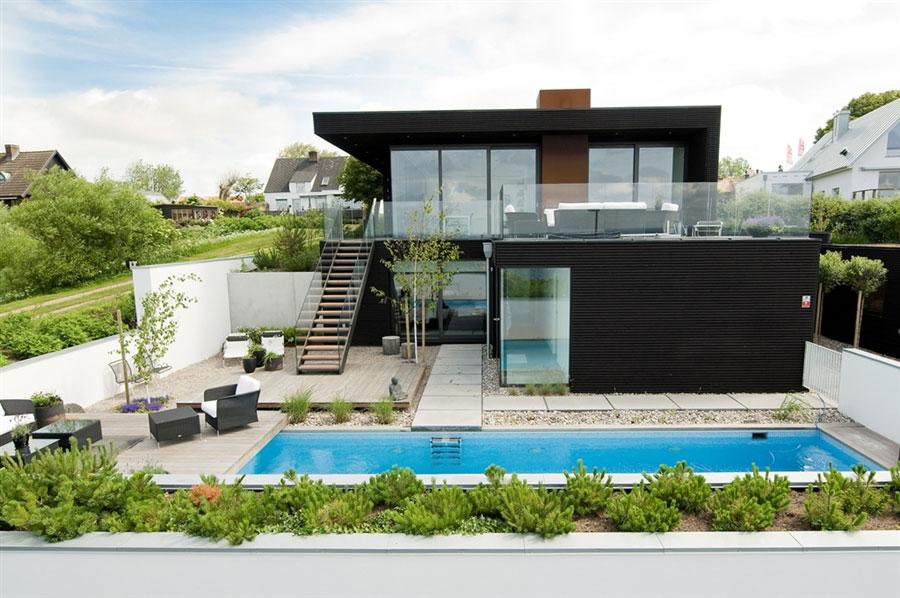 บ้านสองชั้นเรียบง่าย สไตล์รีสอร์ท