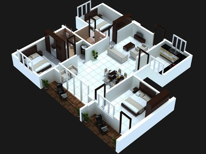 29-3-bedoom-with-balcony-house-plans