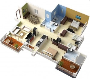 46-single-floor-3-bedroom-house-plans