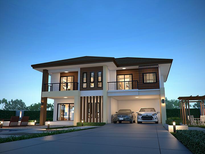 แบบบ้าน tropical modern