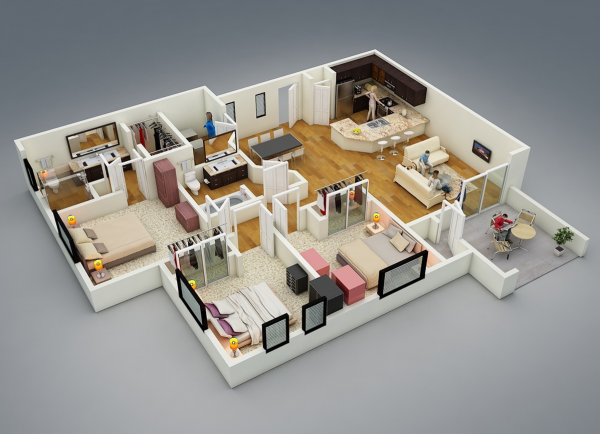 17_3-bedroom-layout-600x434